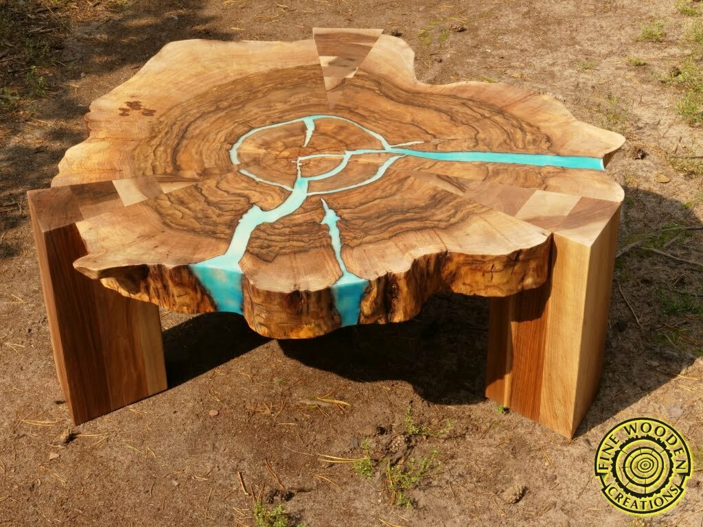 Material Coffee Table.Round Live Edge Coffee Table With Wooden Legs Fine Wooden Creations