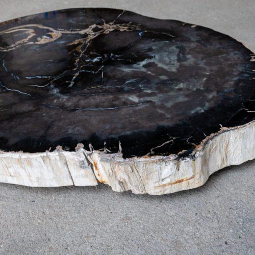 Blat ze skamieniałego drewna